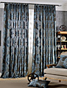 Classic Flower Jacquard Polyester Curtains Drapes (Sheer Not Included) Two Panels