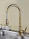 finition doree un trou poignee seul pont traditionnel monte rotatif gigogne cuisine de pulverisation robinet