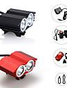 Eclairage Lampes Frontales / Eclairage de Velo / bicyclette LED 2400 Lumens 3 Mode Cree XM-L2 18650Etanche / Rechargeable / Tete crenelee