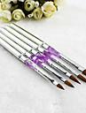 1pcs argent gel uv art ongles en acrylique decorations brosses peinture pointes de stylo d\'outils de manucure