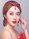 Mujer Diamantes Sinteticos / Aleacion Celada-Boda / Ocasion especial Bandas de cabeza 1 Pieza Rojo