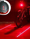 Bicycle Cycling Laser Tail Light 2 Laser & 5 LED 7 Modes Mountain Bike Safety Warning Flashing Lamp Alarm Rear Light