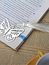 Silver-Metal Butterfly Bookmark with Elegant Silk Tassel Party Souvenir