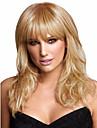 soyeux vague droite blonds ondes moyennes synthetique perruques nouvelle arrivee
