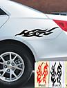 2 pcs / lot flamme autocollants de voiture autocollants pour voiture eviter de rayer Car Styling