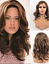 14inch blonder foran parykker indiske jomfru hår 100% menneskehår blonder foran bølget stil parykker til kvinder