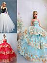 Prinsessa Klänningar För Barbie Doll Lila / Brun / Vit Klänningar För Flicka doll Toy