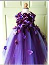 A-line Knee-length Flower Girl Dress - Tulle Sleeveless