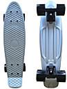 eloxerad plast skateboard (22 tum) cruiser styrelse med ABEC-9 lager silver