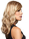 naturelle blonds perruque synthetique de haute qualite a long cheveux boucles avec bang cote