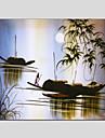 oljemålningar modern havsutsikt, duk material med sträckt ram redo att hänga storlek: 70 * 70cm.