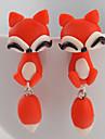 Cercei Stud La modă Silicon Animal Shape Portocaliu Rosu Bijuterii Pentru Zilnic Casual 2pcs