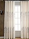 Två paneler Fönster Behandling Rustik / Modern / Nyklassisistisk / Medelhavet / Europeisk , Blommig/Botanisk / Vinranka Bedroom