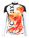 PALADIN® Maillot de Cyclisme Femme Manches longues Velo Respirable / Sechage rapide Maillot / Hauts/Tops 100 % PolyesterDessin-Anime /