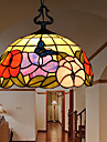 E27 220V 30*28CM 5-10㎡European Rural Creative Arts Stained Glass Chandelier Restoring Ancient Ways Lamp Led Light