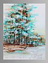 Stilleben / fantasi / Fritid / Landskap / Botanisk / Modern / Popkonst Canvastryck En panel Redo att hänga , Vertikal