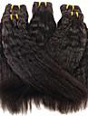 anna brasilianska hår kinky raka hårförlängningar 1pcs # 1b kinky rak jungfrulig hårwefts 100g / st