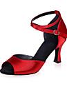 Latin - Pantofi de dans (Negru / Maro / Roșu / Argintiu / Auriu) - Non personalizabile - Pentru femei