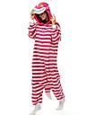Kigurumi Pyjamas Katt / Chesire Cat Leotard/Onesie Festival/Högtid Animal Sovplagg Halloween Brun Randig Polar Fleece Kigurumi För Unisex