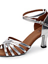 Chaussures de danse(Argent Or) -Personnalisables-Talon Personnalise-Similicuir-Latine