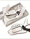 Chrome Airplane Luggage Tag in Elegant White Box Party Souvenir