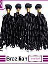 4pcs / lot cheveux bresiliens regroupe non transformes spirale friser les cheveux tisse les cheveux vierges bresiliens tisse