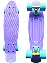 klassiska plast skateboard (22 tum) kryssare ombord pastell lila med pastell blå hjul