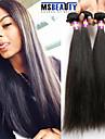 """4 st / lot 8 """"-30"""" 7a peruanska jungfru hår rakt människohår väft 100% obearbetade peruanska remy hår väver"""