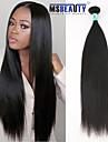 """1st / lot 12 """"-30"""" 5a peruanska jungfru hår rakt mänskliga hårförlängningar 100% obearbetat peruanska remy hår väver"""