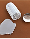 New 1pcs Milky White Transparent Nail Art Stamping Stamper Scraper Set 2.8cm Clear Jelly Stamp Manicure Tools