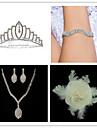 Conjunto de joias Mulheres Aniversario / Casamento / Noivado / Presente / Festa / Ocasiao Especial Conjuntos de JoalhariaZirconia Cubica