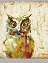 Peint a la main Animal Carre,Style europeen Un Panneau Toile Peinture a l\'huile Hang-peint For Decoration d\'interieur