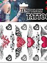 JT - Tatueringsklistermärken - Non Toxic / Mönster / Glitter / Ländrygg / Waterproof / Jul - Annat - tillSpädbarn / Barn / Dam / Girl /