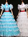Cosplay Kostymer/Dräkter Prinsessa / Film- och TV-kostymer Festival/Högtid Halloween Kostymer Vit / Blå KlänningHalloween / Jul /