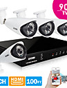 ZOSI® 8Ch H.264 HDMI 960H DVR 4pcs 900TVL Outdoor CCTV Camera IR Night Vision 100ft(30m) Security System