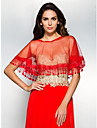 Wedding  Wraps Capelets Sleeveless Lace Red Wedding / Party/Evening / Casual Scoop Lace Pullover