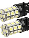 2 * 3157 4057 t20 voiture queue ampoule de clignotant de sauvegarde 5050SMD blanc pur 27 LED Light 12v