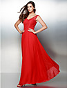 TS Couture® Formal Evening Dress A-line V-neck Ankle-length Chiffon / Lace with Lace
