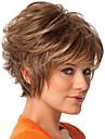 ny ankomst blonda korta lockiga syntetiskt hår peruker