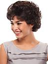 mode noir couleur moelleux cheveux courts boucles perruques synthetiques de vente.