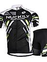 NUCKILY® Cykeltröja med shorts Herr Kort ärm CykelAndningsfunktion / Anatomisk design / Ultraviolet Resistant / Bärbar /