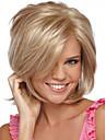 attraktiv guld sidbena kanekalon kvinna kort peruk