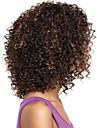 nye stilfulde sorte kvinder naturlige sunde hår dybe krøllet mix farve syntetiske parykker
