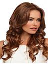 lång mode brun färg syntheic våg peruk