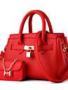Women\'s Fashion Casual PU Leather Messenger Shoulder Bag/Handbag Tote