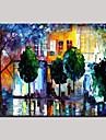 Peint a la main Abstrait / PaysageModern Un Panneau Toile Peinture a l\'huile Hang-peint For Decoration d\'interieur