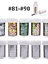 Blomma - Finger / Tå - 3D Nagelstickers - av Andra - 10pcs nail foils+1pcs nail foil glue - styck 4cmX100cm each piece - cm