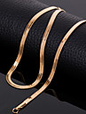 18k Golden Plated 18 Inch(45cm) 4mm Width Chain Necklace Accessories