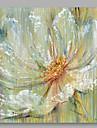 Pictat manual Floral/Botanic Pătrat,Modern Un Panou Canava Hang-pictate pictură în ulei For Pagina de decorare