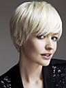 droites couleur blanc courtes synthetiques perruques de femme